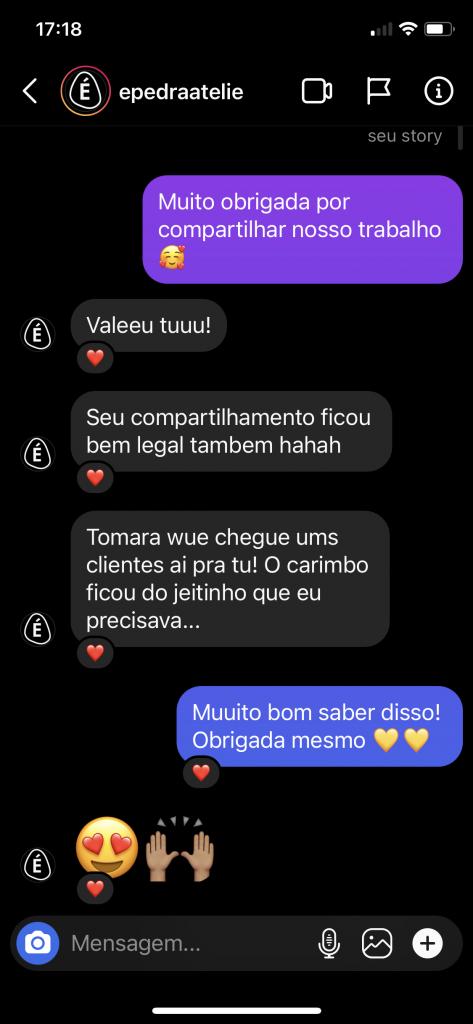feedback carimbo